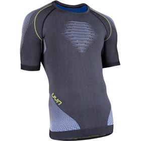 UYN M's Evolutyon Melange UW SS Shirt Anthracite Melange/Blue/Yellow Shiny